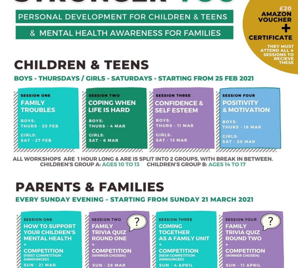 Personal development for children & Teens & mental health awareness for families